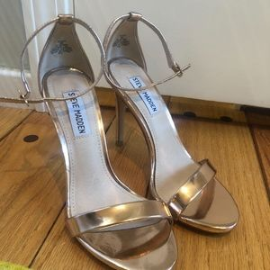 Steve Madden Shoes - Steve Madden Stecy Heel in Rose Gold- Strappy Heel